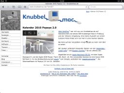 Screenshot: Knubbelmac.de auf dem iPad