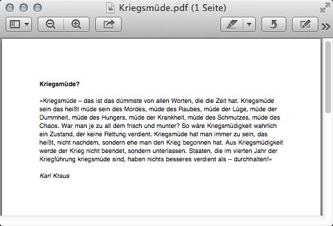 Screenshot OS X Vorschau mit PDF